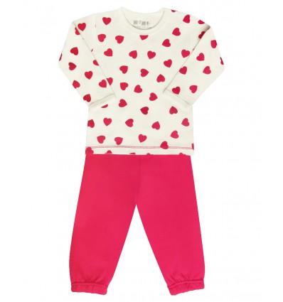 Piżama dla dziewczynki z bawełny organicznej