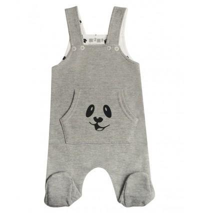 Spodnie ogrodniczki niemowlęce dla chłopca