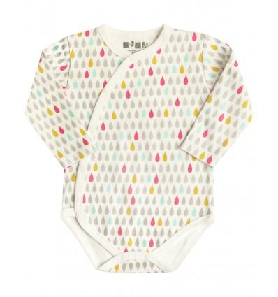 20e6344a840bce Body niemowlęce z bawełny organicznej dla dziewczynki - Escallante
