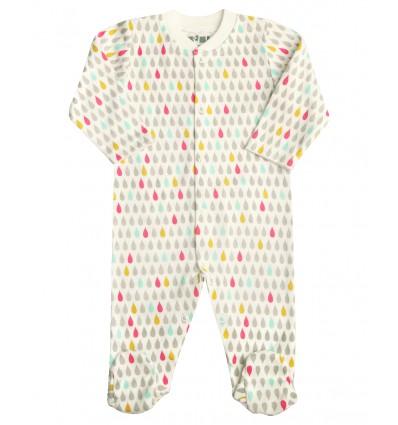 2b95771ab9908e Pajac niemowlęcy z bawełny organicznej dla dziewczynki - Escallante