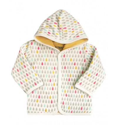 362d23e19fc2cd Kurtka niemowlęca z bawełny organicznej dla dziewczynki - Escallante