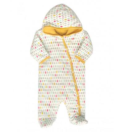 ea8ce3baffa122 Kombinezon niemowlęcy z bawełny organicznej dla dziewczynki - Escallante