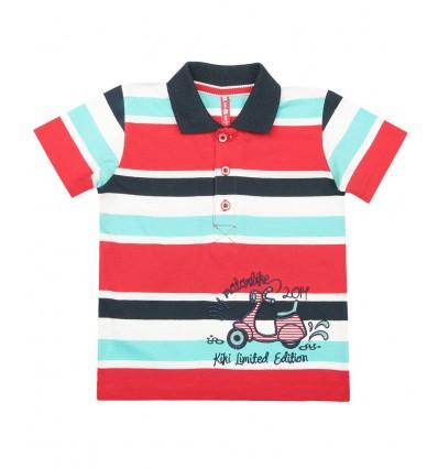 T-shirt polo z krótkim rękawem dla chłopca