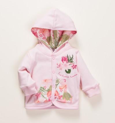Dwustronna bluza niemowlęca PARADISE z bawełny organicznej dla dziewczynki