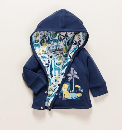 Bluza niemowlęca THE KING z bawełny organicznej dla chłopca