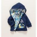 Dwustronna bluza niemowlęca THE KING z bawełny organicznej dla chłopca
