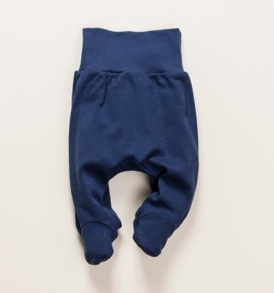 Granatowe półśpiochy niemowlęce THE KING z bawełny organicznej dla chłopca