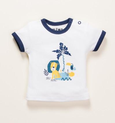 T-shirt niemowlęcy THE KING z bawełny organicznej dla chłopca