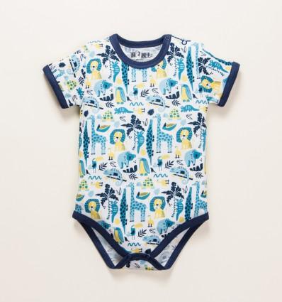 Body niemowlęce THE KING z bawełny organicznej dla chłopca
