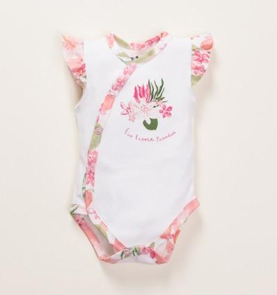 Body kopertowe z bawełny organicznej PARADISE dla dziewczynki