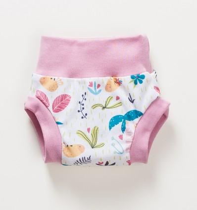 Bloomersy niemowlęce OAZA z bawełny organicznej dla dziewczynki