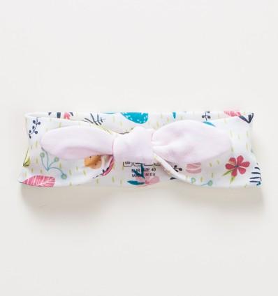 Opaska na głowę OAZA z bawełny organicznej dla dziewczynki