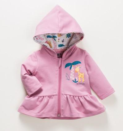 Bluza niemowlęca OAZA  z bawełny organicznej dla dziewczynki