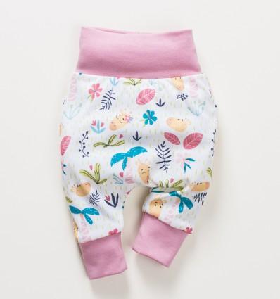 Spodnie niemowlęce OAZA z bawełny organicznej dla dziewczynki