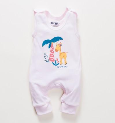 Różowe śpiochy niemowlęce OAZA z bawełny organicznej dla dziewczynki