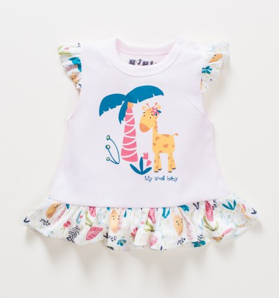 T-shirt niemowlęcy OAZA z bawełny organicznej dla dziewczynki