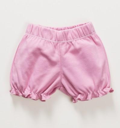 Różowe szorty niemowlęce OAZA z bawełny organicznej dla dziewczynki