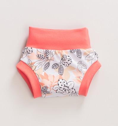 Pantalony niemowlęce MAGNOLIA z bawełny organicznej dla dziewczynki