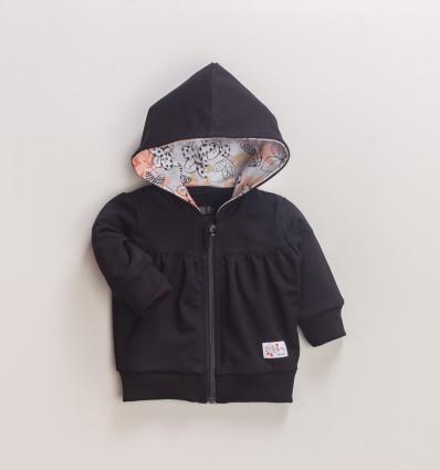 Czarna bluza niemowlęca MAGNOLIA z bawełny organicznej dla dziewczynki