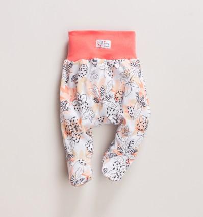 Półśpiochy niemowlęce MAGNOLIA z bawełny organicznej dla dziewczynki