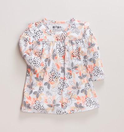 Kwiecista sukienka niemowlęca MAGNOLIA z bawełny organicznej