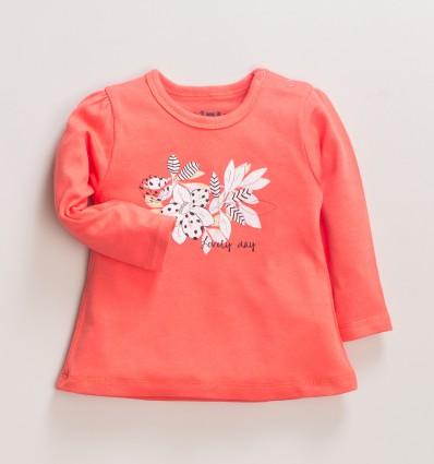 Morelowa bluzka niemowlęca MAGNOLIA z bawełny organicznej