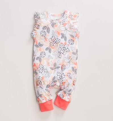 Spodnie ogrodniczki MAGNOLIA z bawełny organicznej dla dziewczynki
