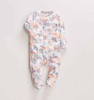 Pajac niemowlęcy MAGNOLIA z bawełny organicznej dla dziewczynki