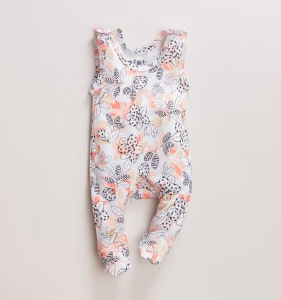 Kolorowe śpiochy niemowlęce MAGNOLIA z bawełny organicznej dla dziewczynki