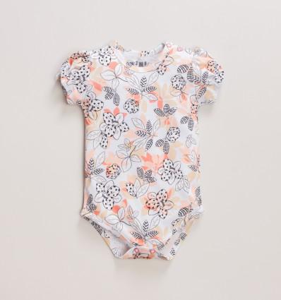 Kolorowe body niemowlęce MAGNOLIA z bawełny organicznej dla dziewczynki