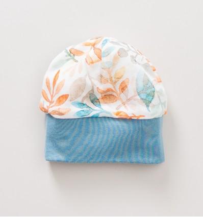 Czapka niemowlęca SÓWKI z bawełny organicznej dla dziewczynki