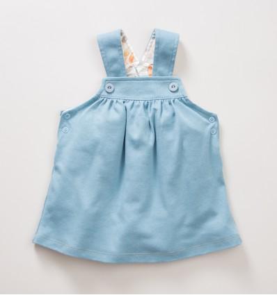 Sukienka niemowlęca na ramiączka NINI SÓWKI z bawełny organicznej