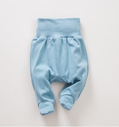 Niebiesko-zielone półśpiochy NINI SÓWKI z bawełny organicznej dla dziewczynki