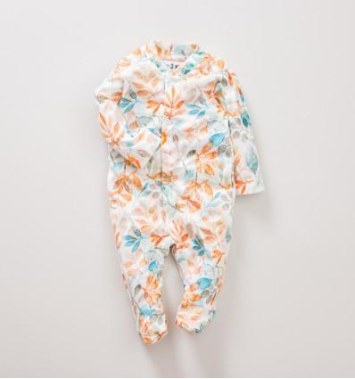 Pajac niemowlęcy SÓWKI z bawełny organicznej dla dziewczynki