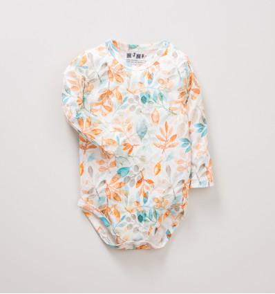 Body niemowlęce NINI SÓWKI z bawełny organicznej dla dziewczynki