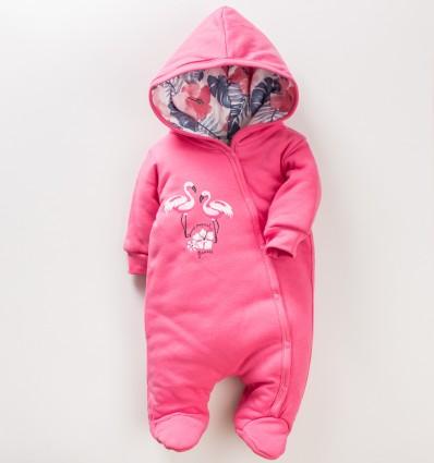 Kombinezon niemowlęcy FLAMINGI NINI z bawełny organicznej dla dziewczynki