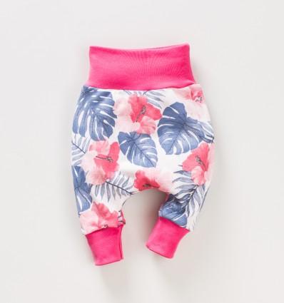 Spodnie niemowlęce FLAMINGI NINI z bawełny organicznej dla dziewczynki