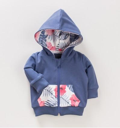 Bluza niemowlęca FLAMINGI NINI z bawełny organicznej dla dziewczynki