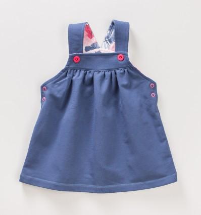 Sukienka niemowlęca na ramiączka FLAMINGI NINI z bawełny organicznej