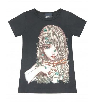 T-shirt dziewczęcy z krótkim rękawem