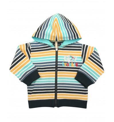 Bluza chłopięca niemowlęca rozpinana z kapturem