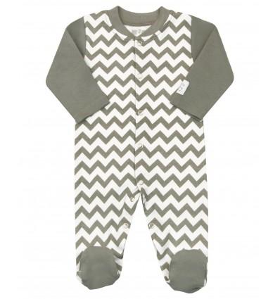 Pajac niemowlęcy dla chłopca z bawełny organicznej