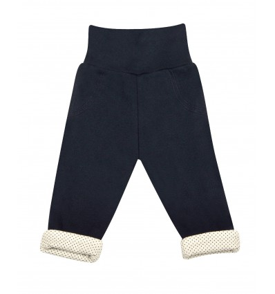 Spodnie z bawełny organicznej dziewczęce